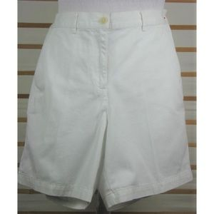 Ladies Ralph Lauren sz 10 white cotton shorts EUC